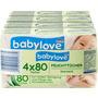 babylove Feuchttücher, 4x80 Stück