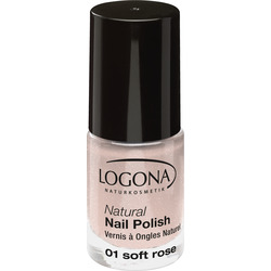 LOGONA Natural Nail Polish no. 01 soft rose