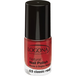 LOGONA Natural Nail Polish no. 03 classic red