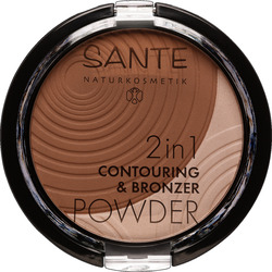 SANTE 2in1 Contouring & Bronzing Powder 02 medium-dark