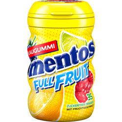 Mentos Kaugummi full fruit mit Orange-Zitrone, Waldfrucht-Limette & Himbeer-Kiwi, zuckerfrei (35 Stück)