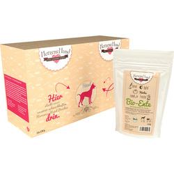 HerzensHund Nassfutter für Hunde, Bio-Ente mit Bio Gemüse, MP 15x130g