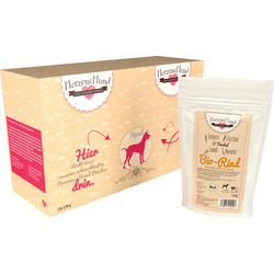 HerzensHund Nassfutter für Hunde, Bio Rindfleisch mit Bio Einkorn und Bio Gemüse