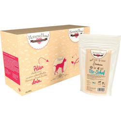 HerzensHund Nassfutter für Hunde, Bio Schaf mit Bio Zucchini, MP 15x130g