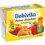 Bebivita Früchtebecher Feine Früchte Gartenfrüchte nach dem 4. Monat, 4x100g