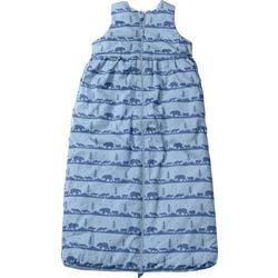 PUSBLU Baby Schlafsack, 130 cm, in Bio-Baumwolle und recyceltem Polyester, blau