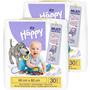 Bella Baby Happy Wickelunterlagen 60x60 cm, 2x30 Stück