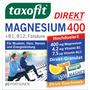 taxofit Magnesium 400 + B1 + B6 + B12 + Folsäure 800 Direkt-Granulat 20 St.