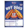 "Westlers Premium Pouched Hots Dogs 12"" Frankfooter 900g"