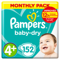 Pampers Baby Dry Gr.4 Maxi Plus 10-15kg Doppelpack